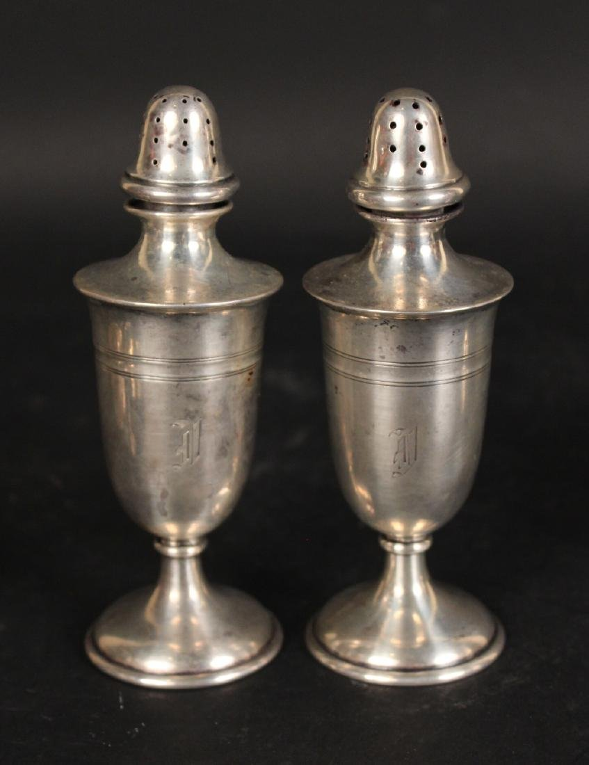 Two Pair Sterling Silver Salt & Pepper Shakers - 2