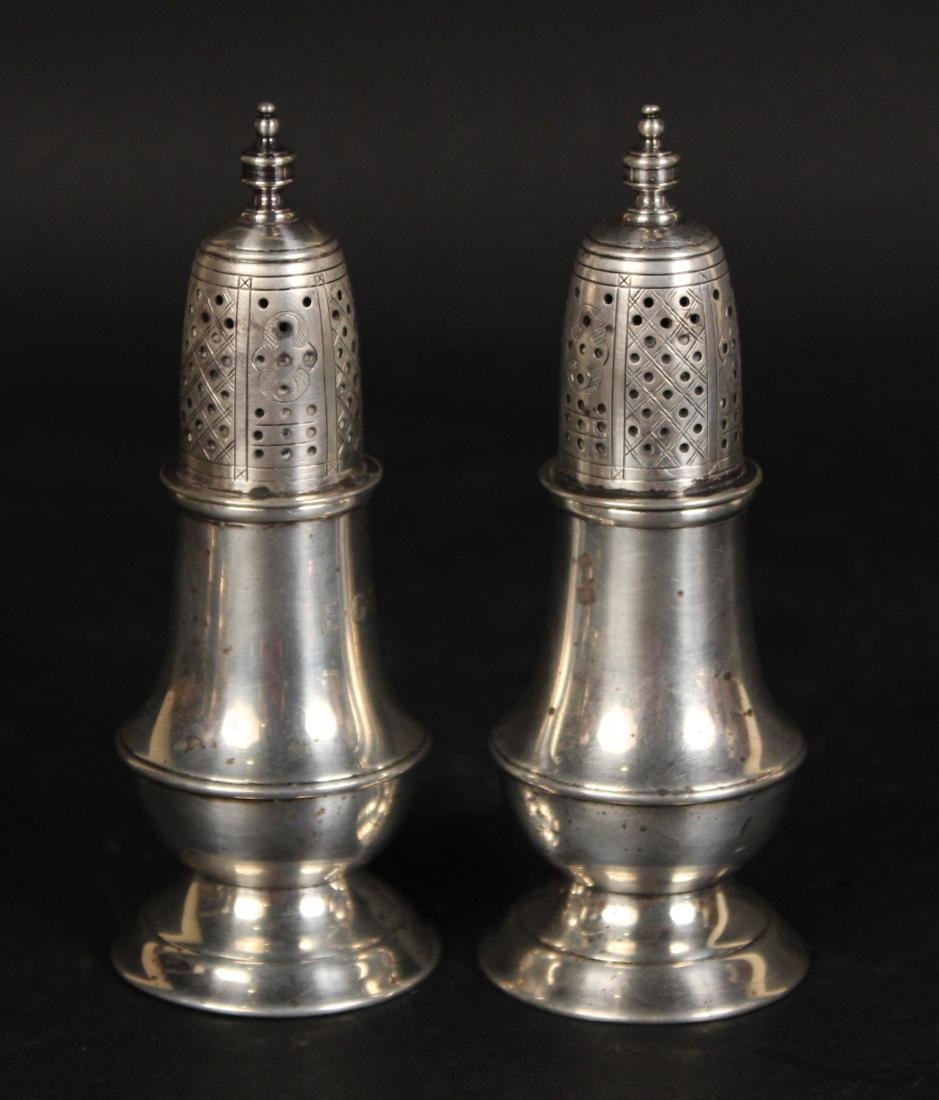 Two Pair Sterling Silver Salt & Pepper Shakers - 3