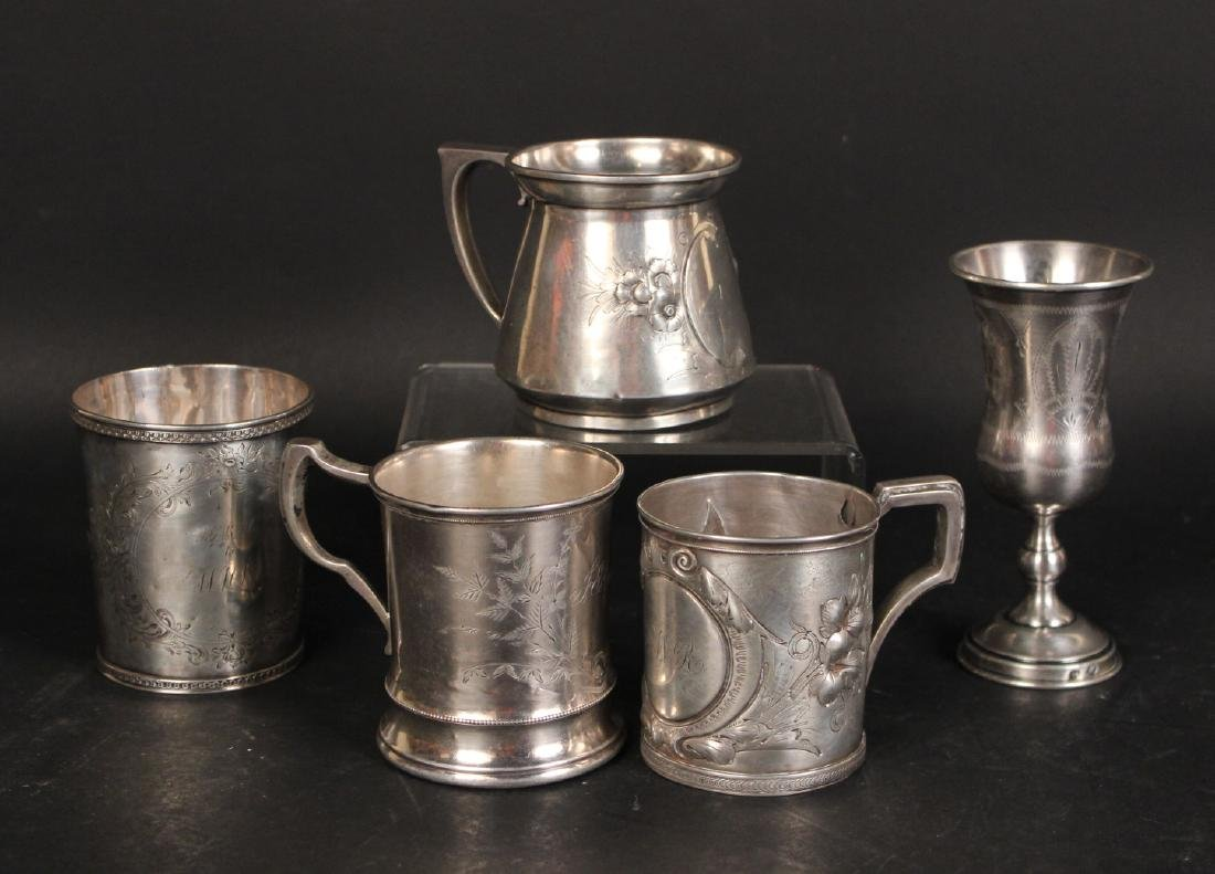 Gorham Coin Silver Beaker & Handled Cup