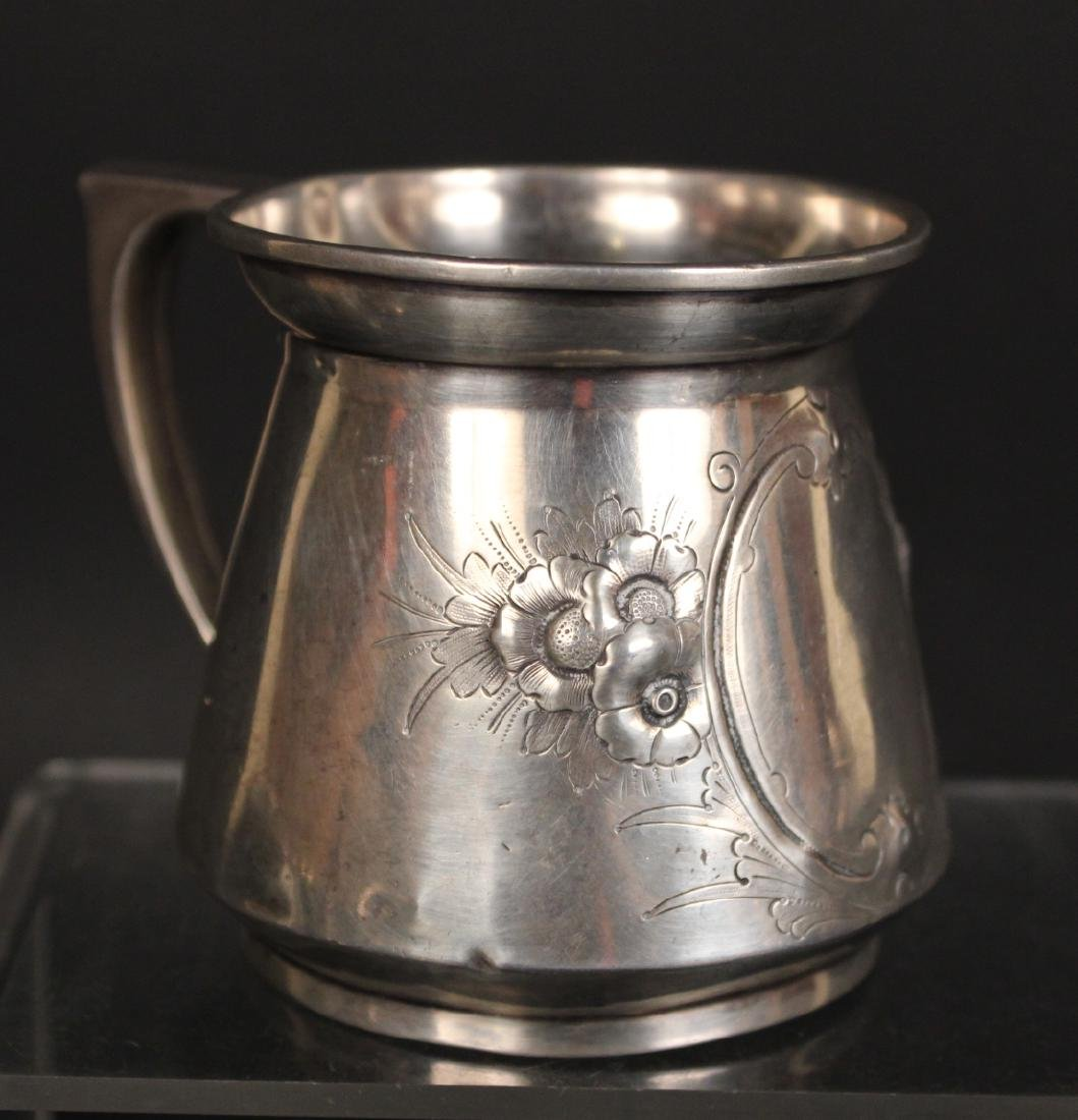 Gorham Coin Silver Beaker & Handled Cup - 4