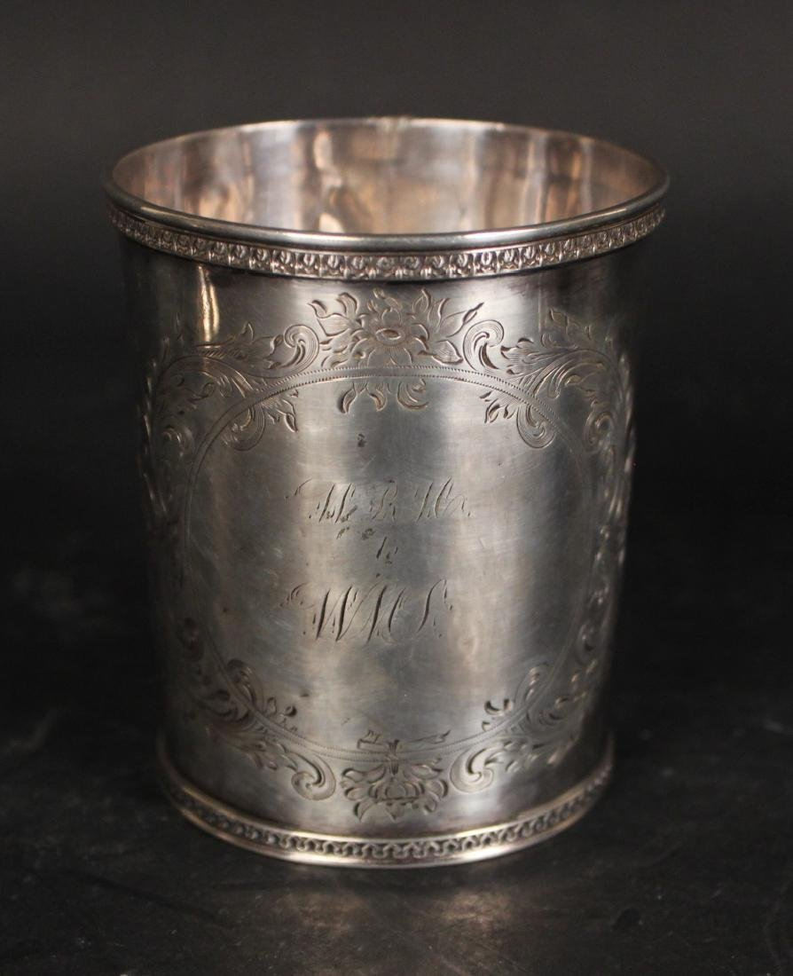 Gorham Coin Silver Beaker & Handled Cup - 6
