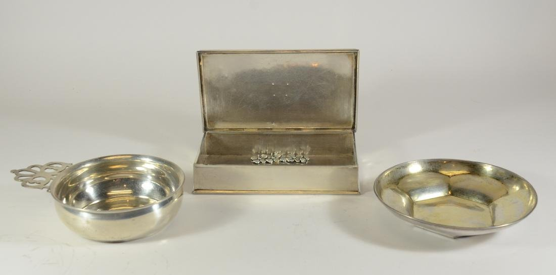 Sterling Silver Hinged Lidded Rectangular Box