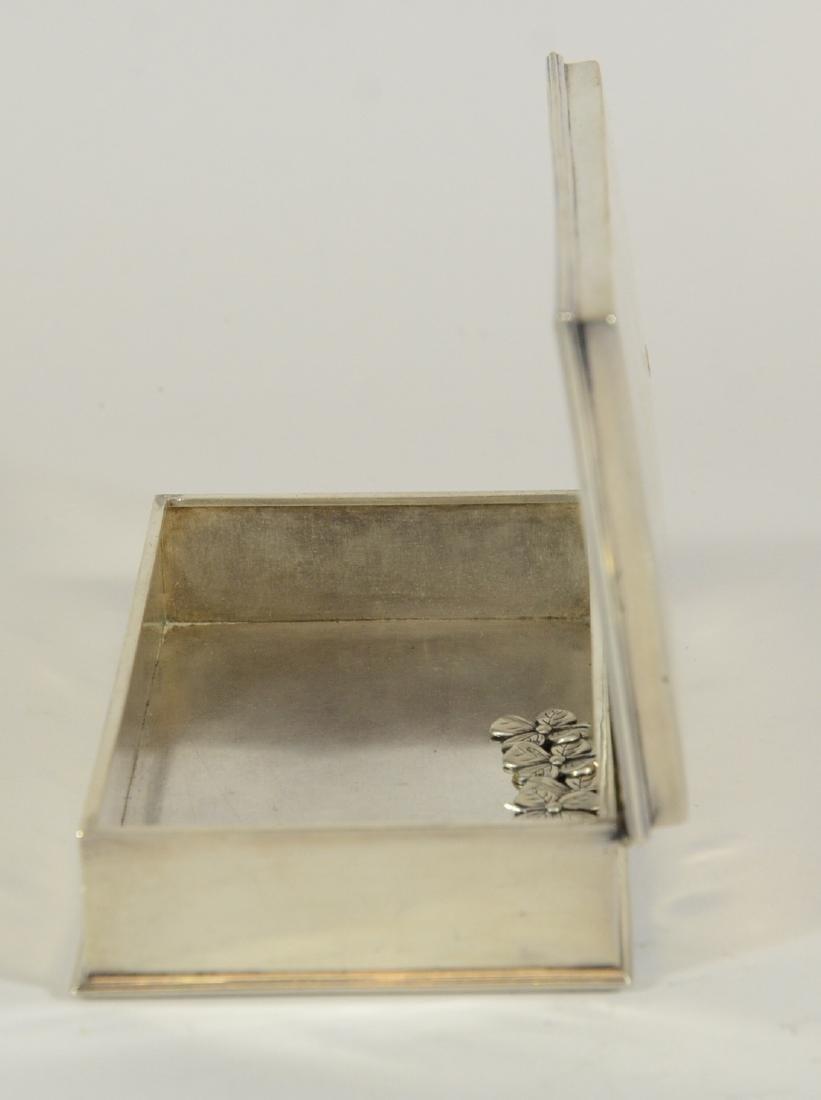 Sterling Silver Hinged Lidded Rectangular Box - 2