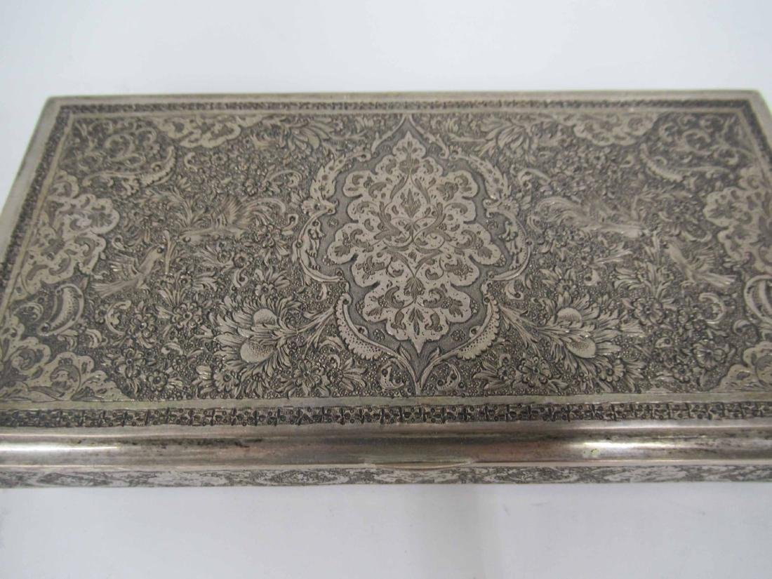 Iranian Silver Hinged Box