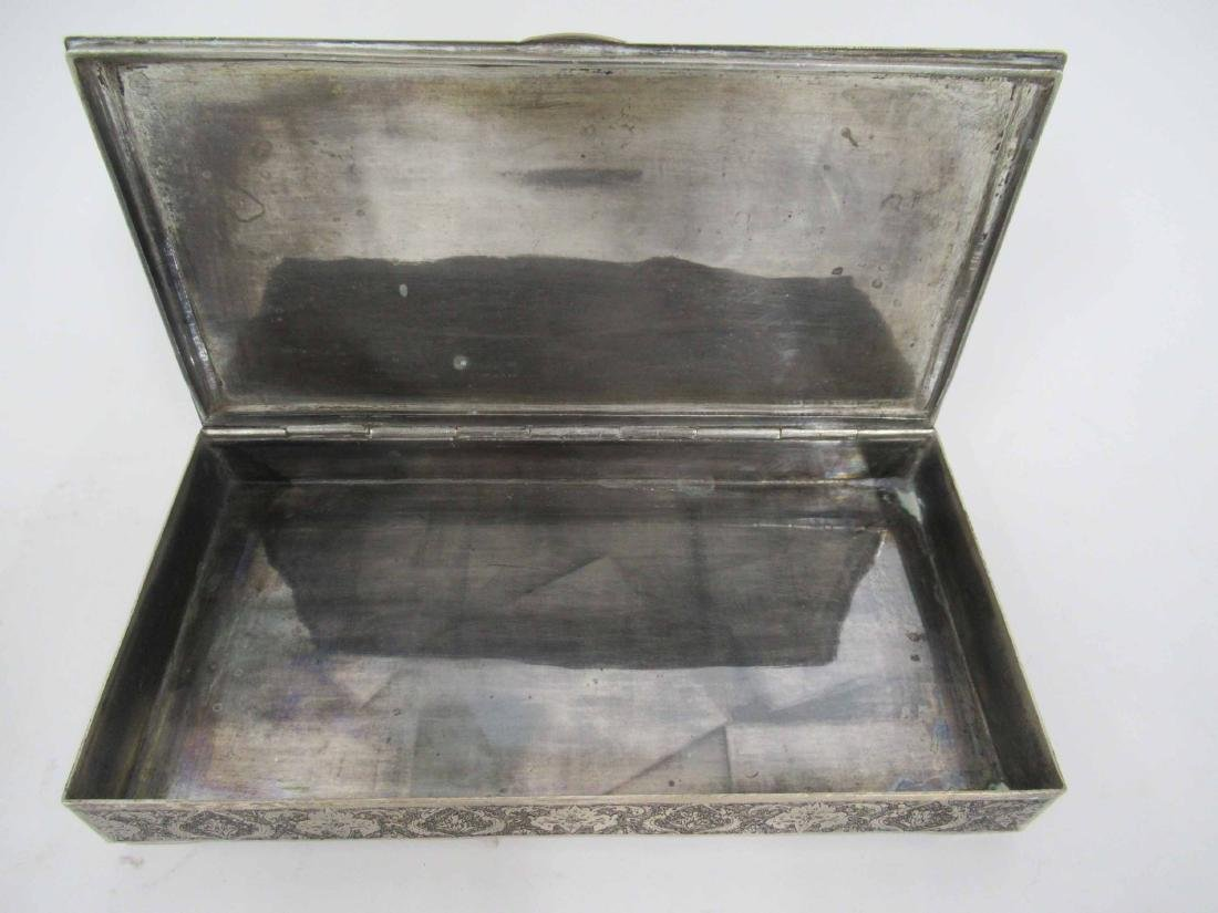 Iranian Silver Hinged Box - 2