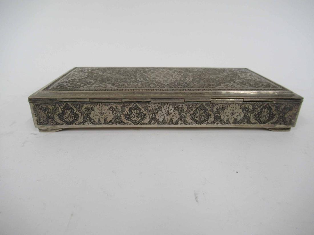 Iranian Silver Hinged Box - 3