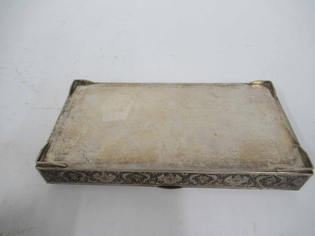 Iranian Silver Hinged Box - 4