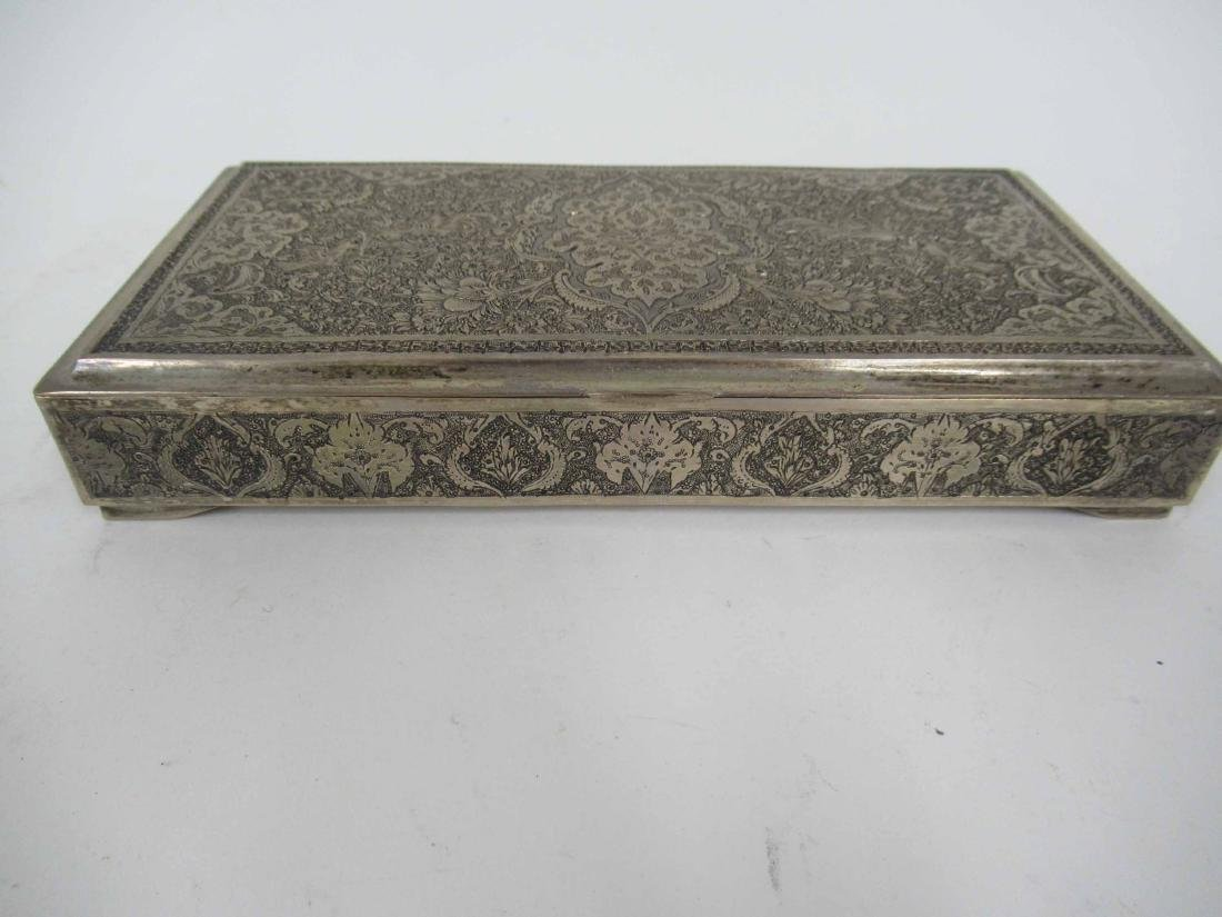 Iranian Silver Hinged Box - 5
