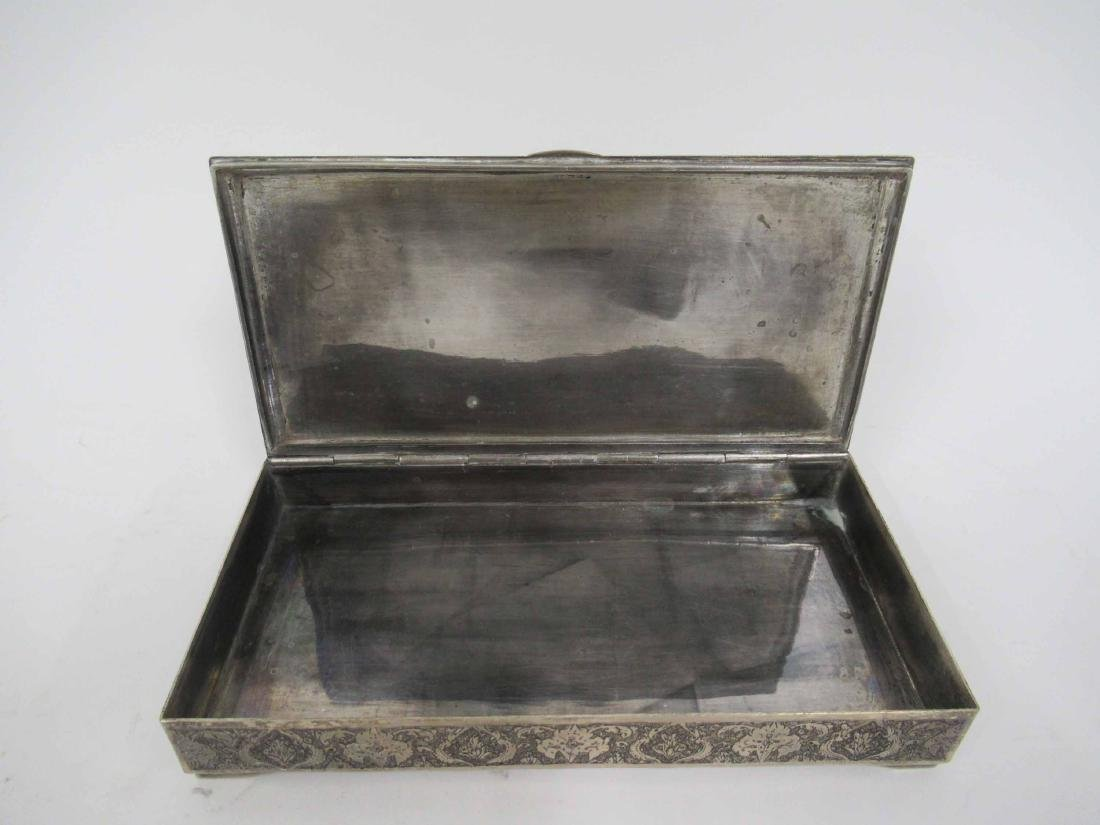 Iranian Silver Hinged Box - 6