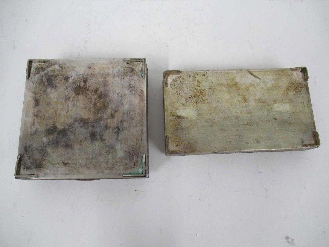 Two Iranian Silver Plate Boxes - 6