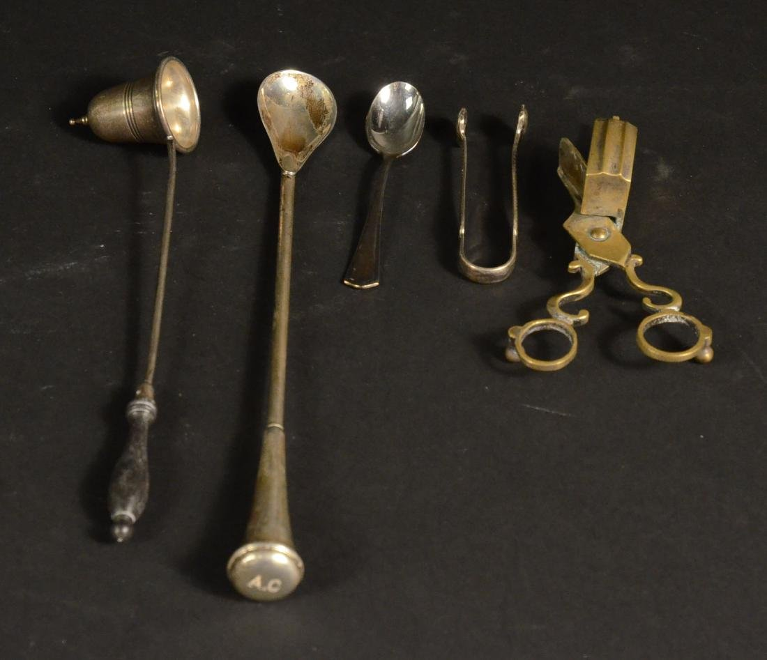 Sterling and a Brass Candle Snuffer - 5