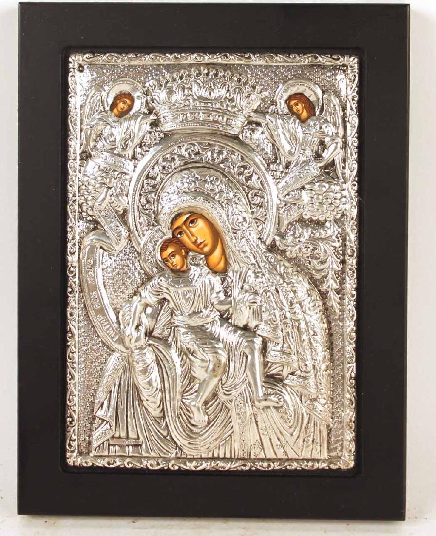 950 Silver Byzantine Icon Reproduction