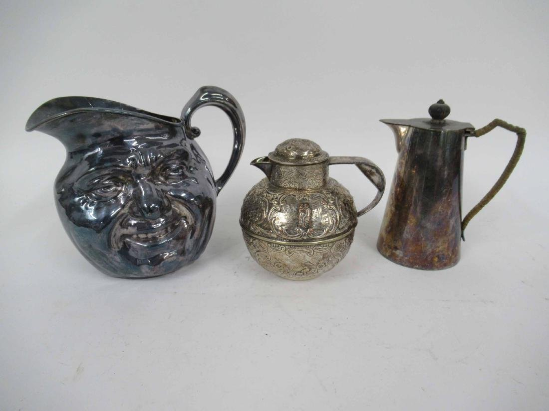 Three Silver Plate Pitchers - 2