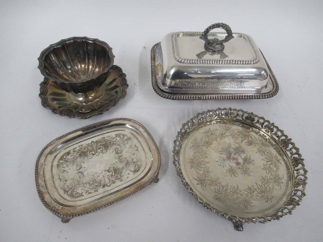 Four Silver Plate Table Articles