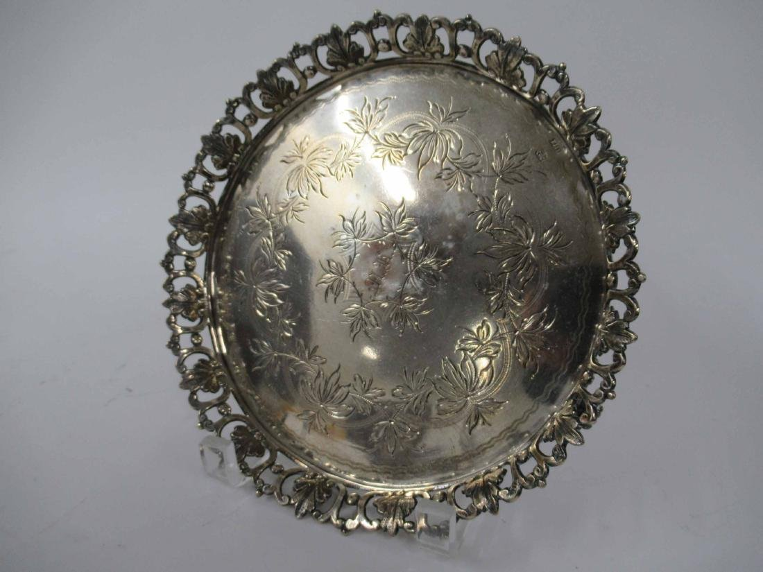 Four Silver Plate Table Articles - 2