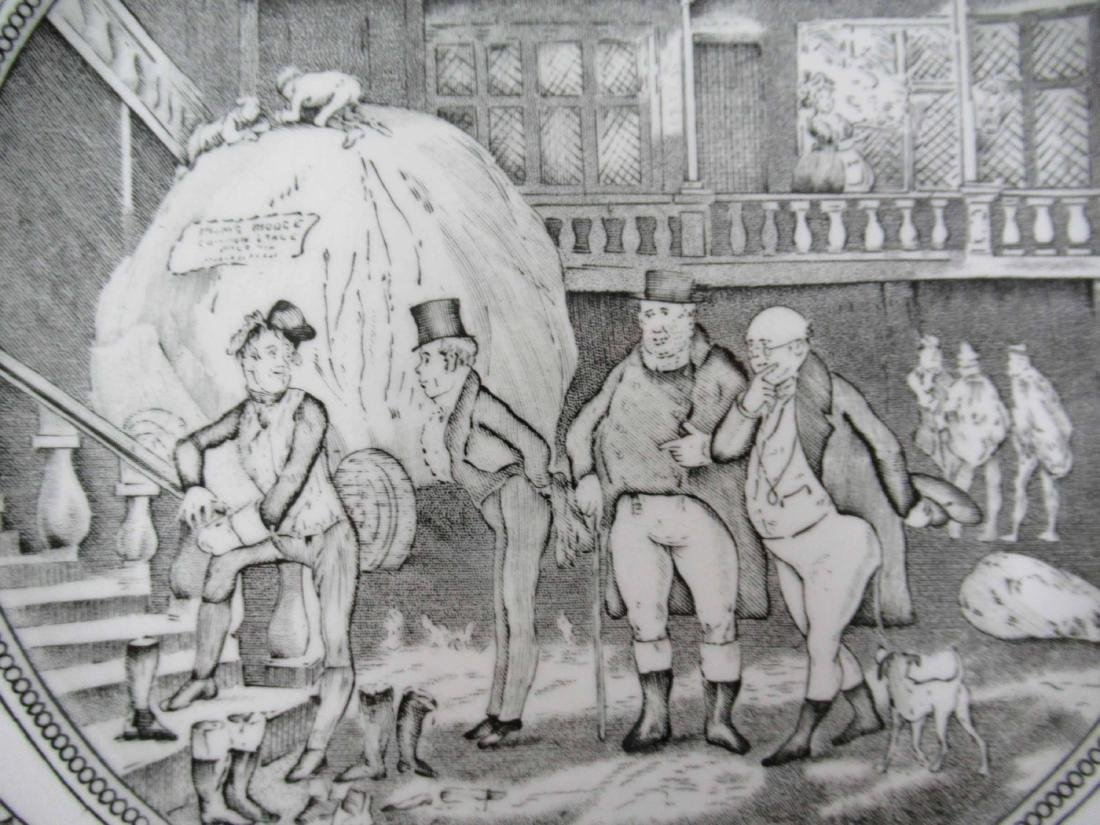 Five English Ironstone Charles Dickens Plates - 4