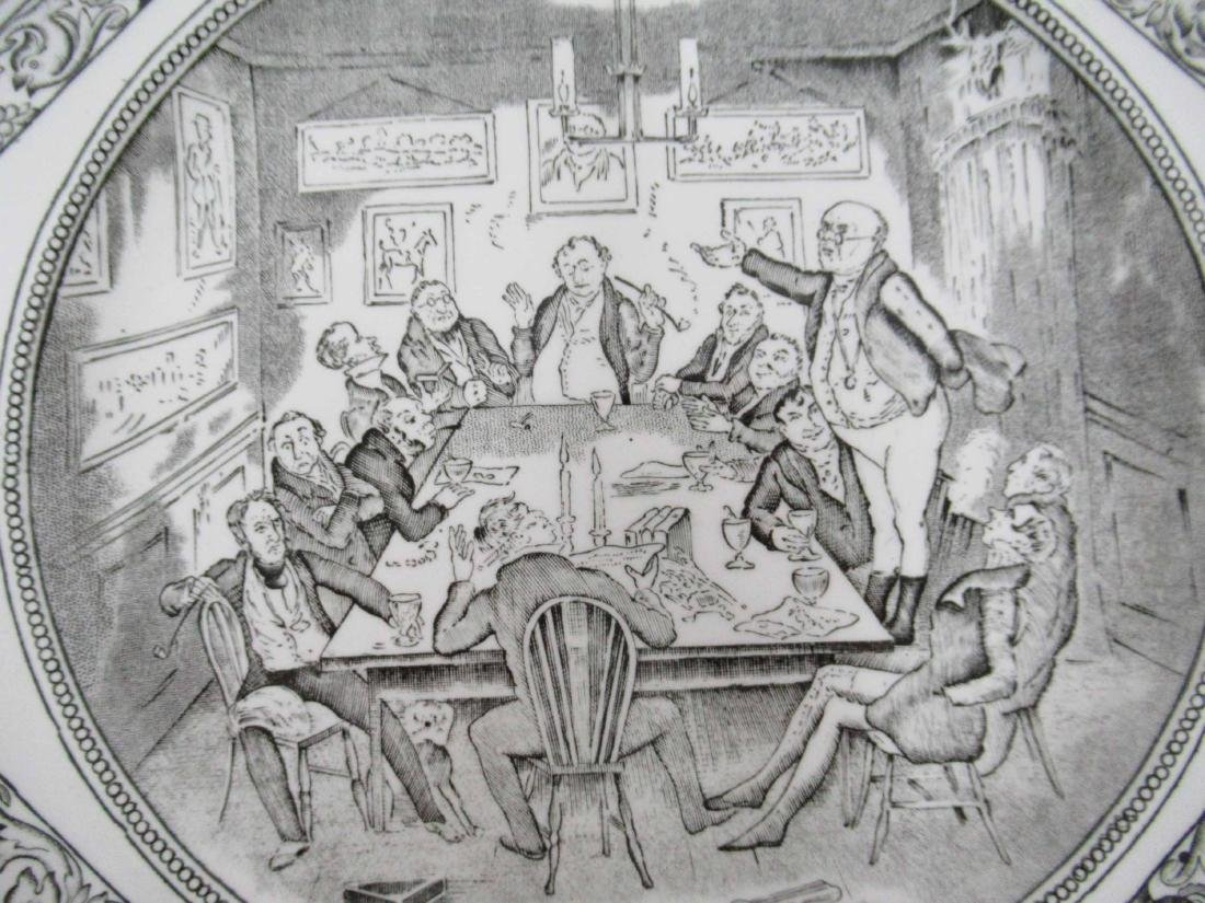 Five English Ironstone Charles Dickens Plates - 5