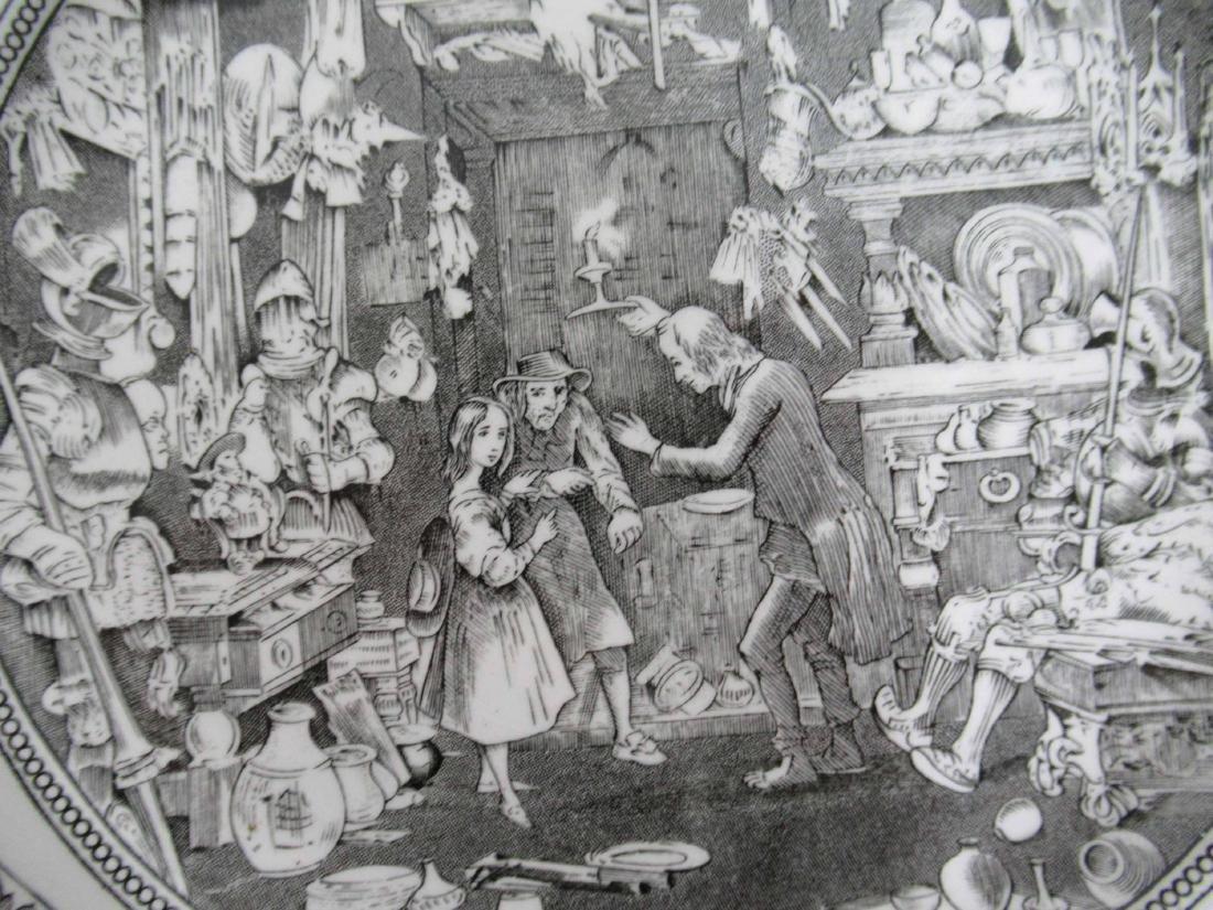 Five English Ironstone Charles Dickens Plates - 6