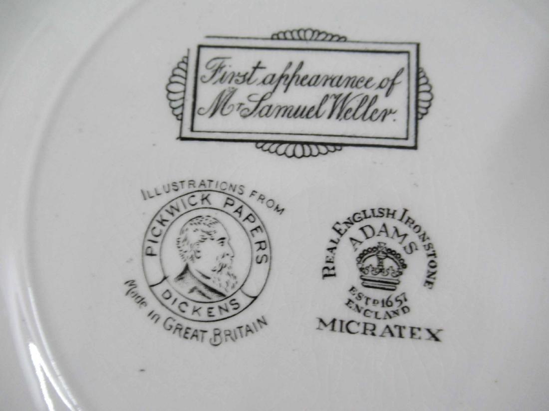 Five English Ironstone Charles Dickens Plates - 7