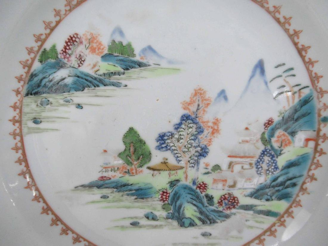 Two Chinese Porcelain Octagonal Plates - 2