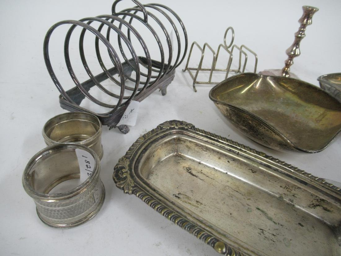 Group of Silver Plate Table Articles - 2