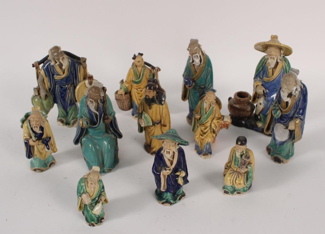 Twelve Chinese Painted Figures