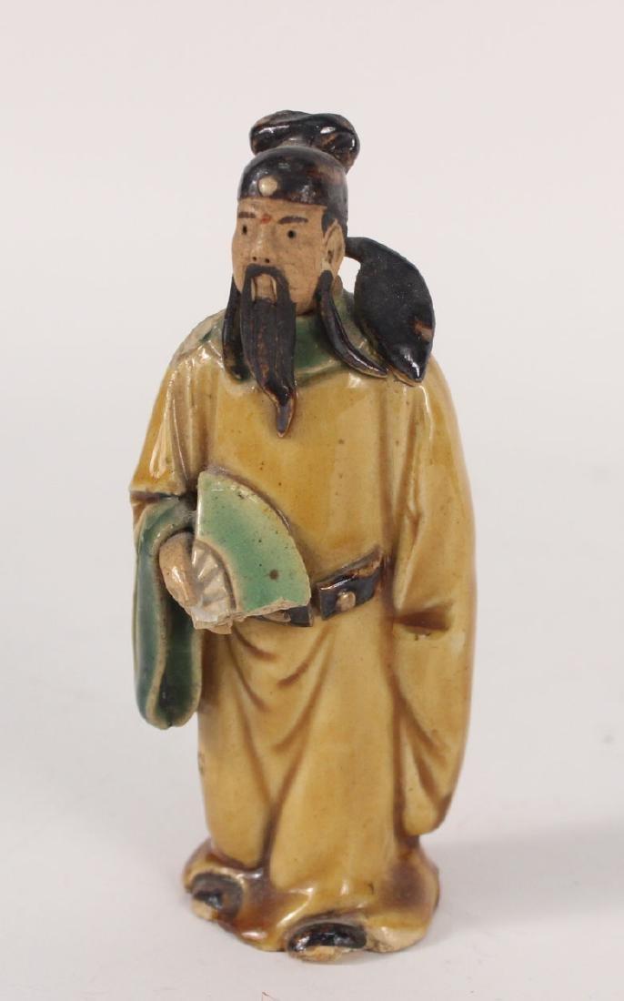 Twelve Chinese Painted Figures - 9