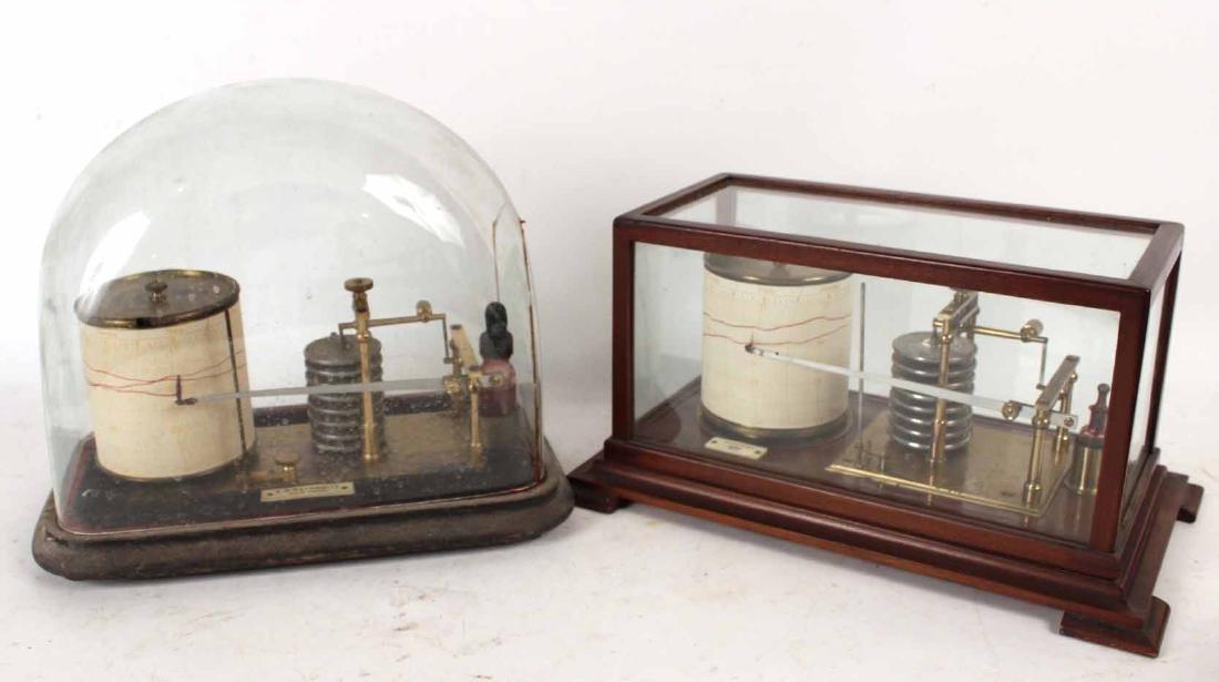 Short & Mason Mahogany Aneroid Barometer