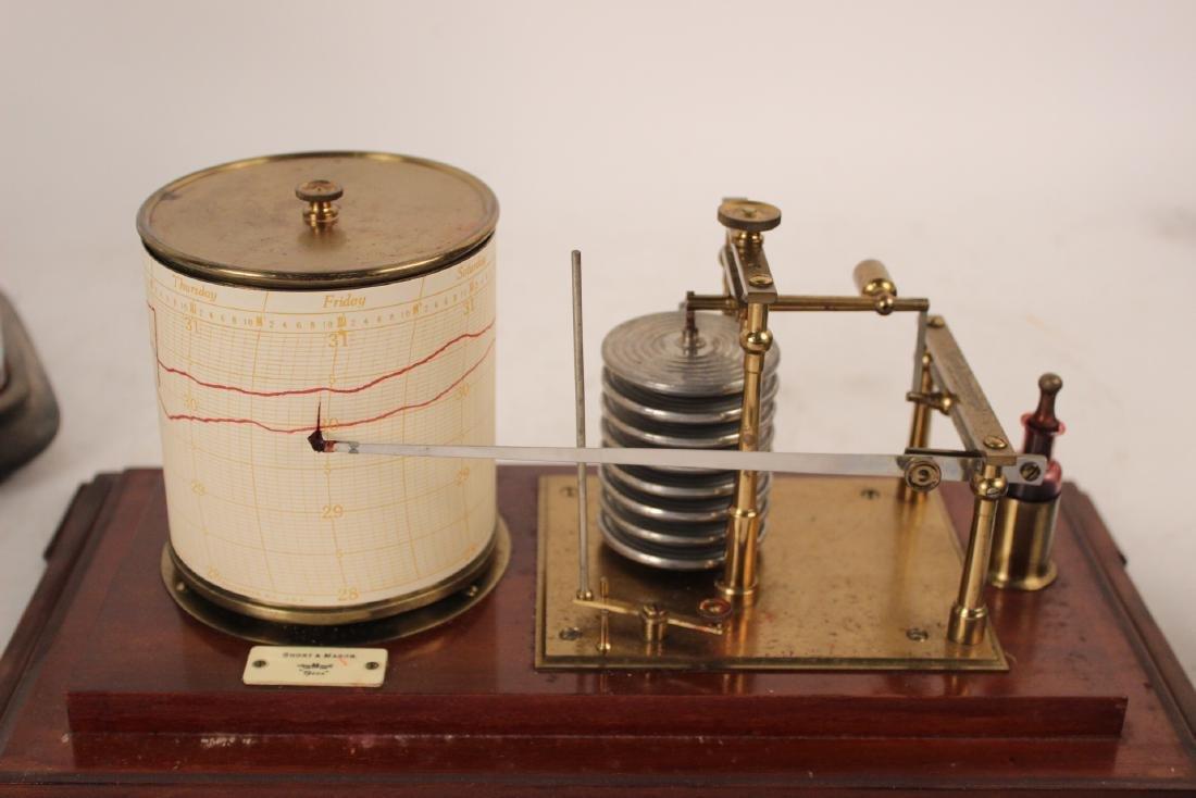 Short & Mason Mahogany Aneroid Barometer - 3