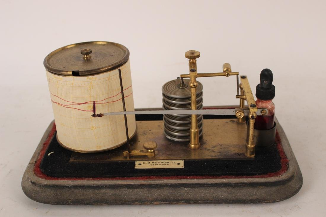 Short & Mason Mahogany Aneroid Barometer - 5