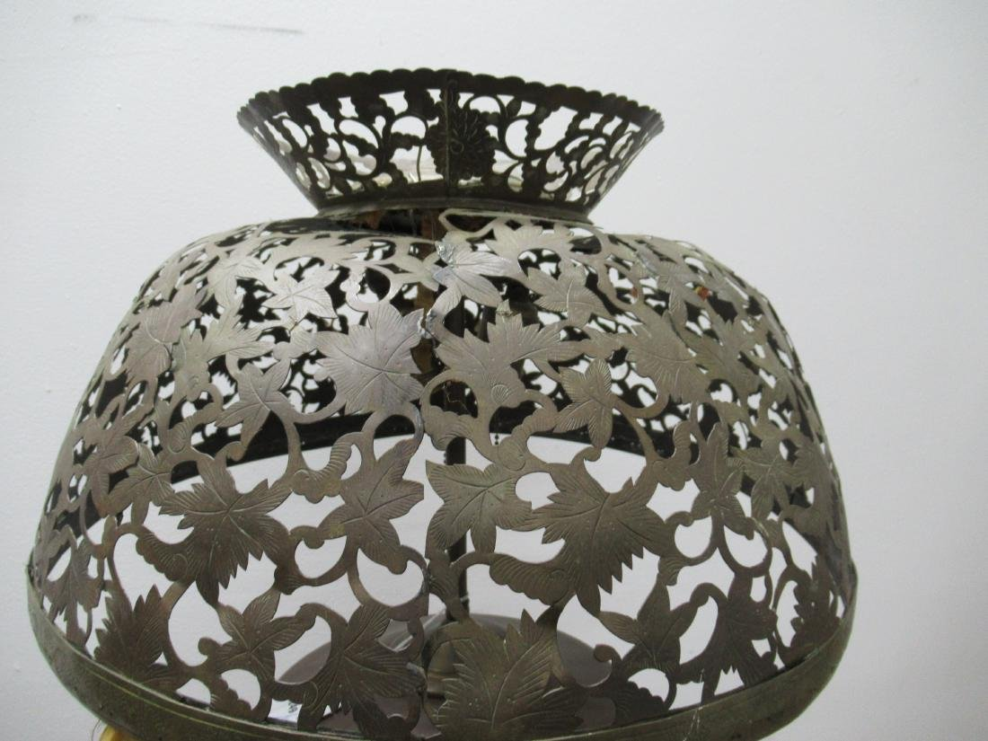 Moorish Style Pierced Brass Floor Lamp - 2