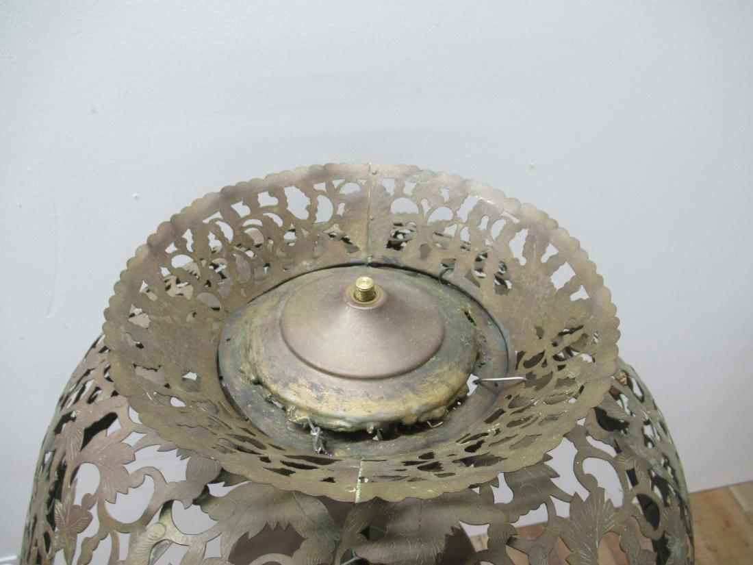 Moorish Style Pierced Brass Floor Lamp - 3