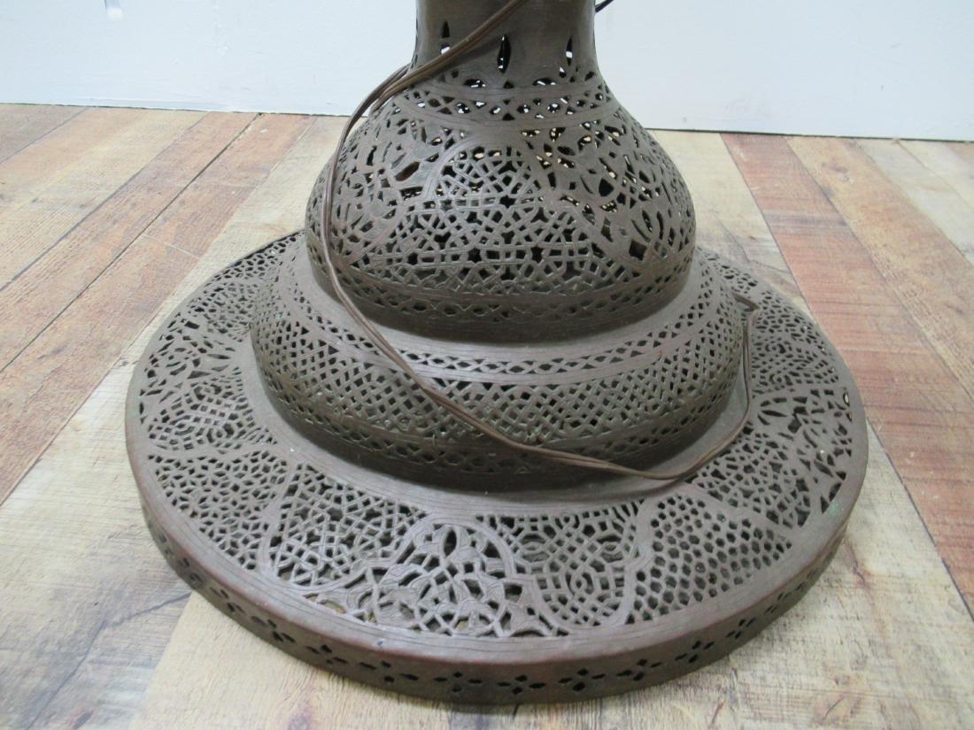 Moorish Style Pierced Brass Floor Lamp - 4