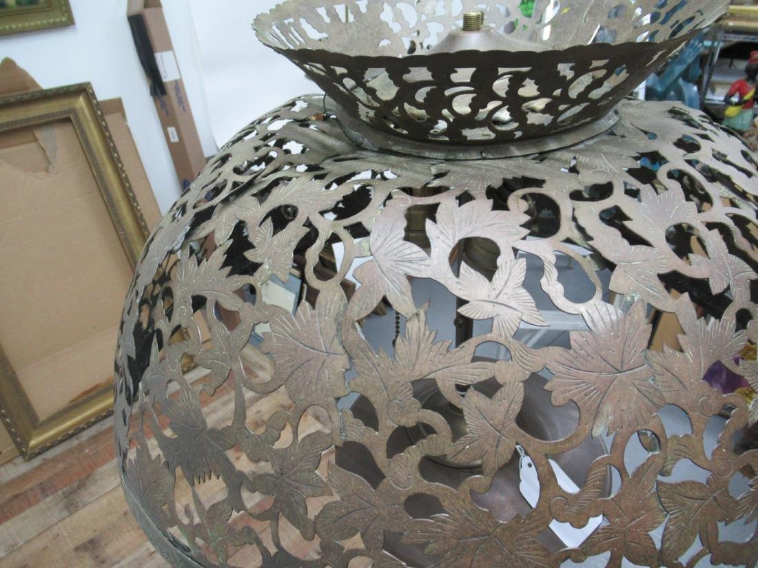 Moorish Style Pierced Brass Floor Lamp - 7