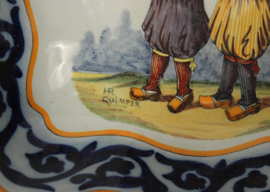 Quimper Pottery Square Serving Dish - 8