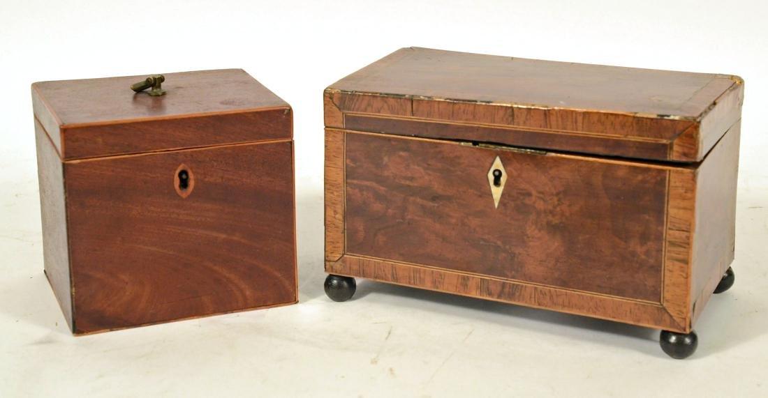 Two George III Tea Caddy's