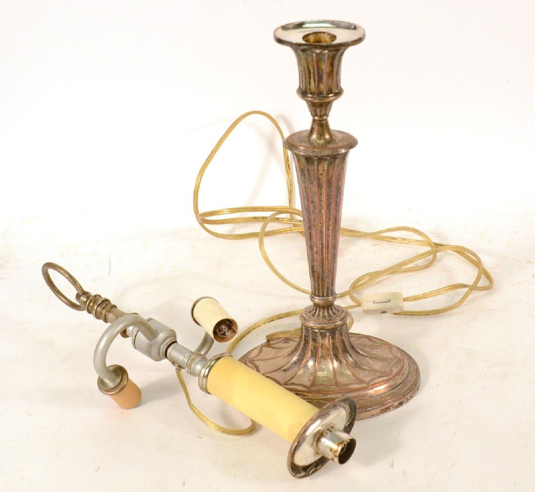 Regency Silver Plated Candlestick - 3
