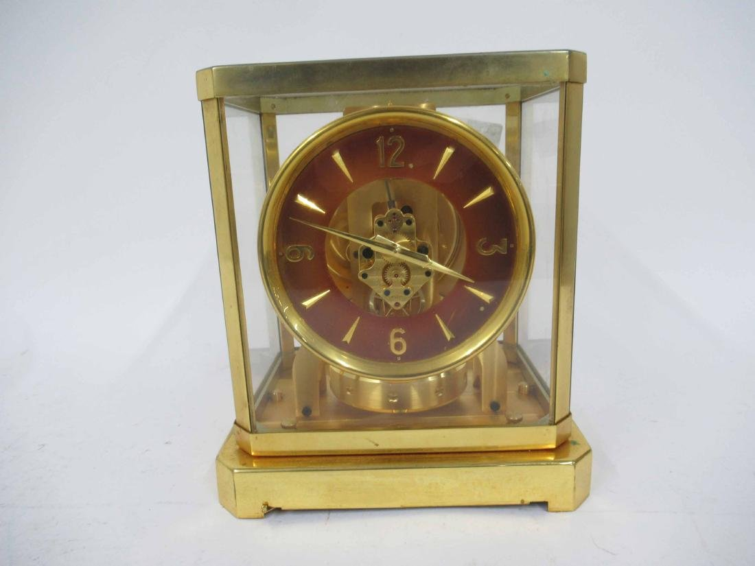 Le Coultre Brass Mantel Clock