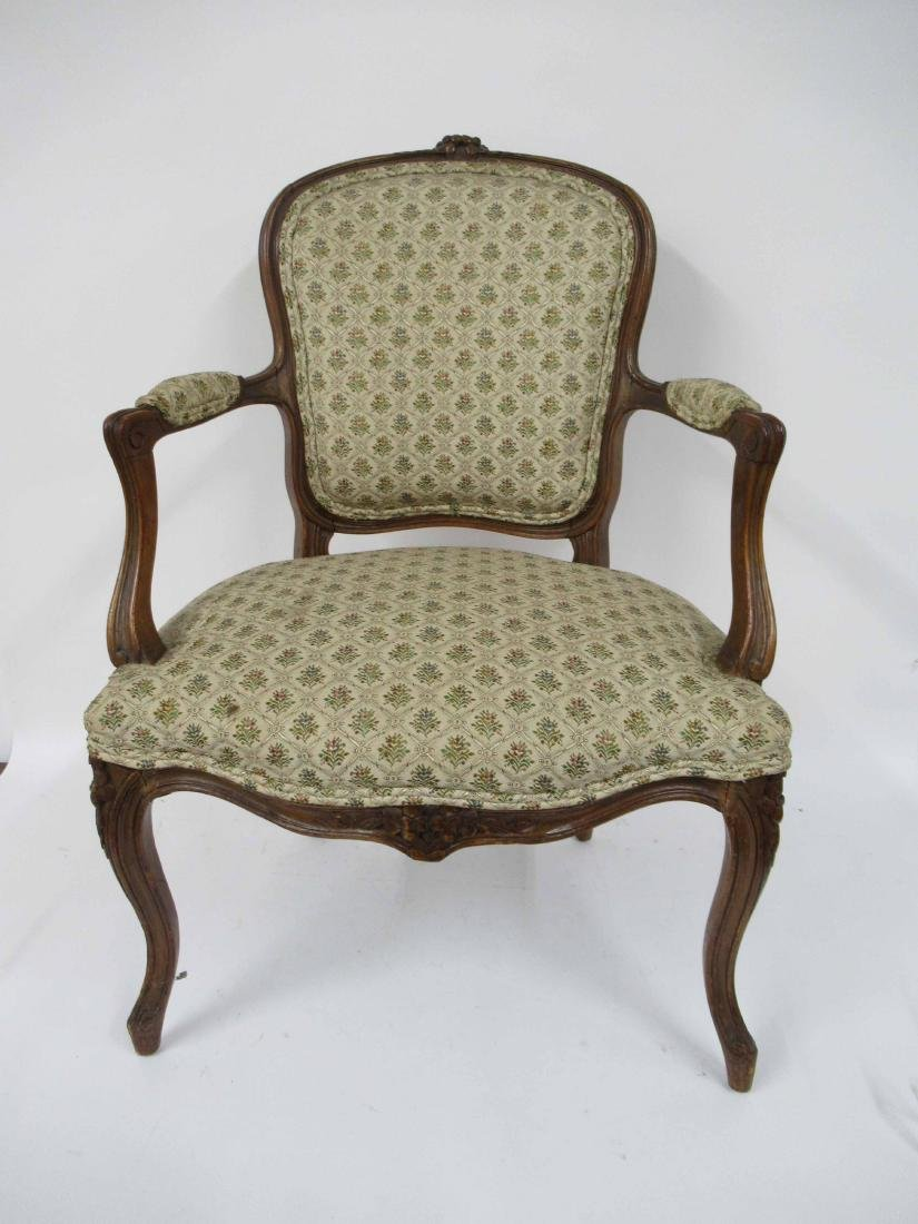 Pair of Louis Xv Style Arm Chairs - 2
