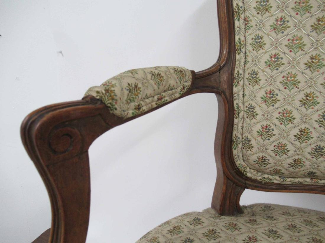 Pair of Louis Xv Style Arm Chairs - 4
