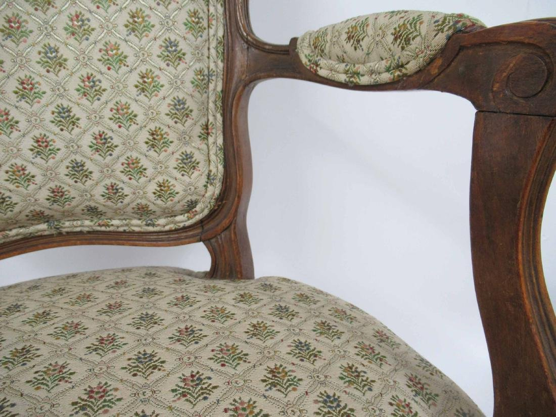 Pair of Louis Xv Style Arm Chairs - 5