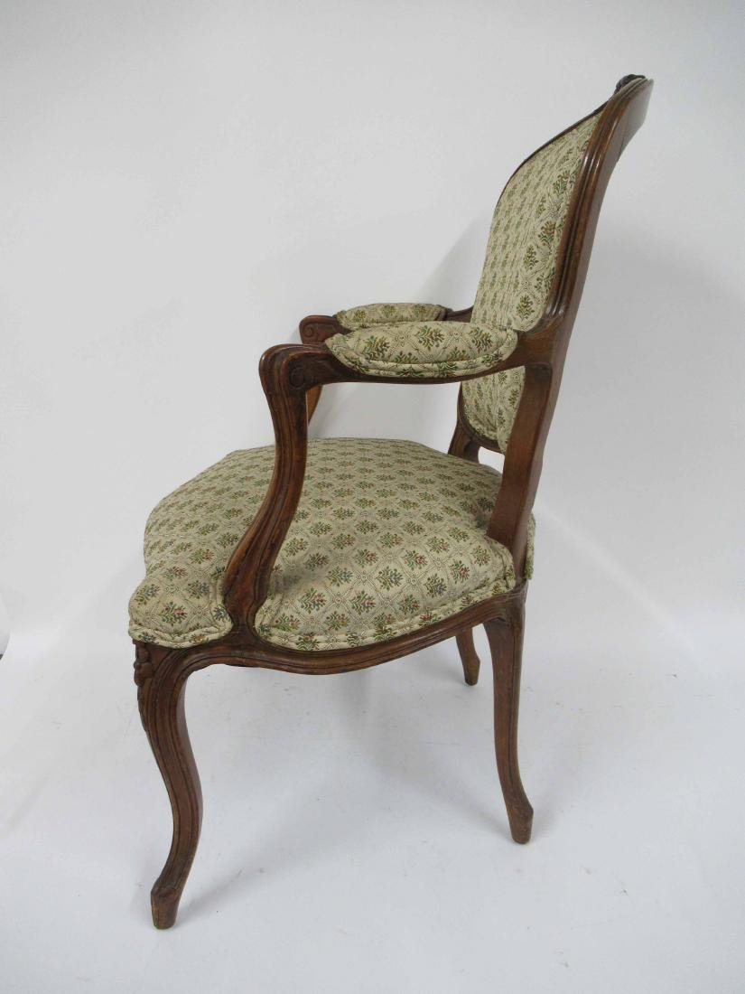 Pair of Louis Xv Style Arm Chairs - 7