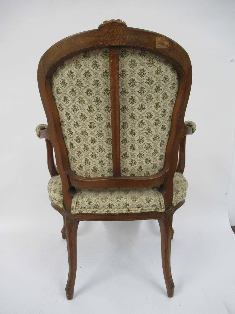 Pair of Louis Xv Style Arm Chairs - 8