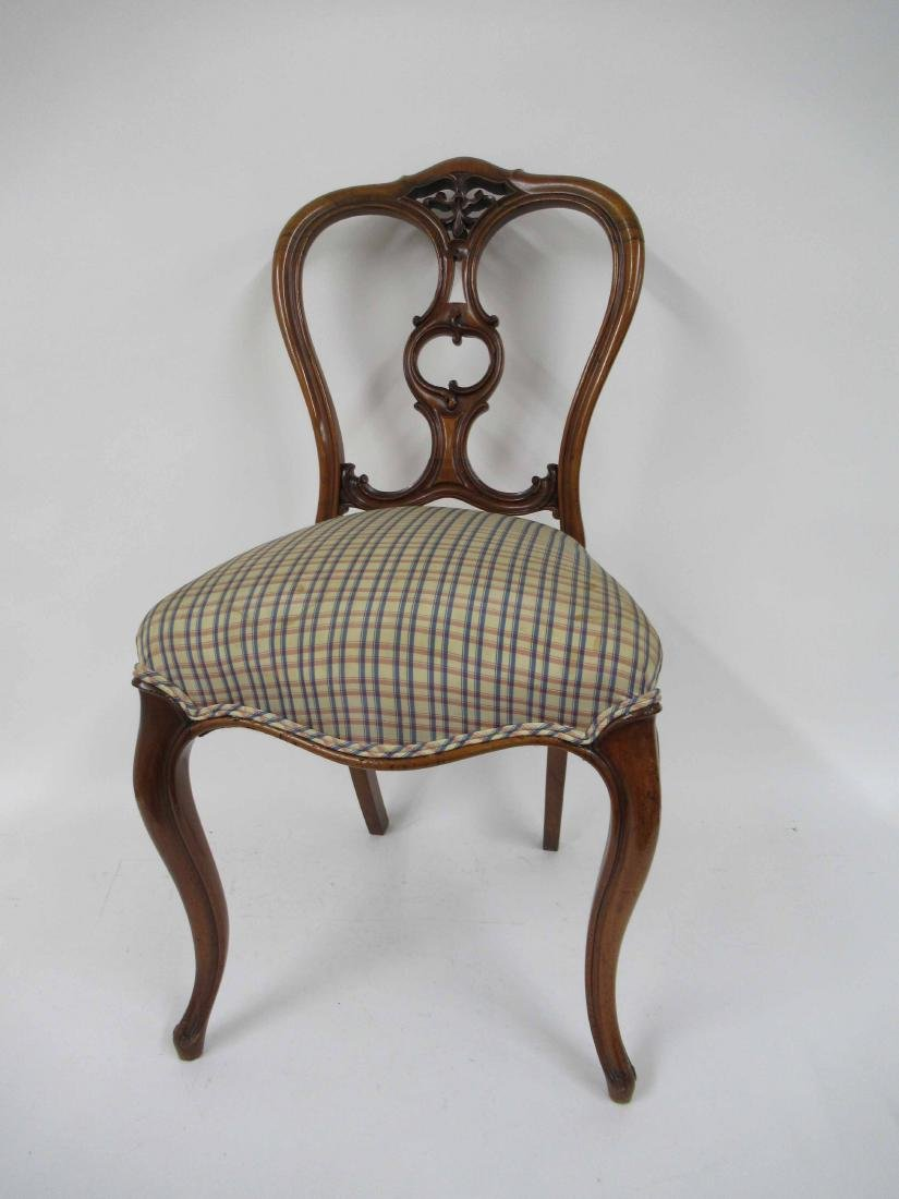 Four Louis XV Style Armless Dining Chairs