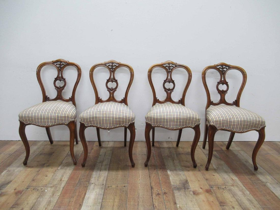 Four Louis XV Style Armless Dining Chairs - 2