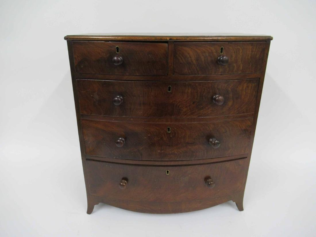 Mahogany Diminutive Bow Front Chest of Drawers
