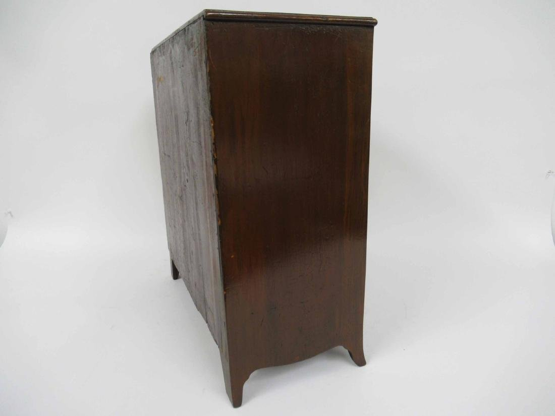 Mahogany Diminutive Bow Front Chest of Drawers - 4