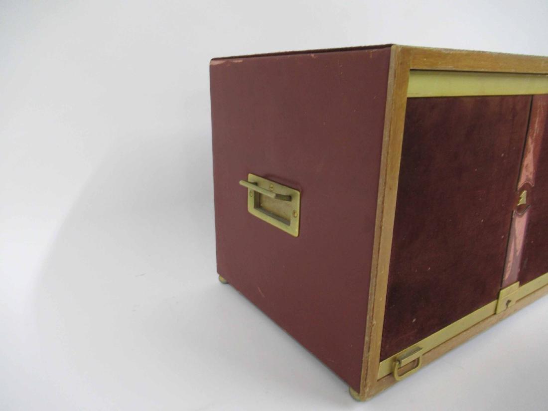 Mark Cross Mens Jewelry Box in Leather 7 Brass - 5