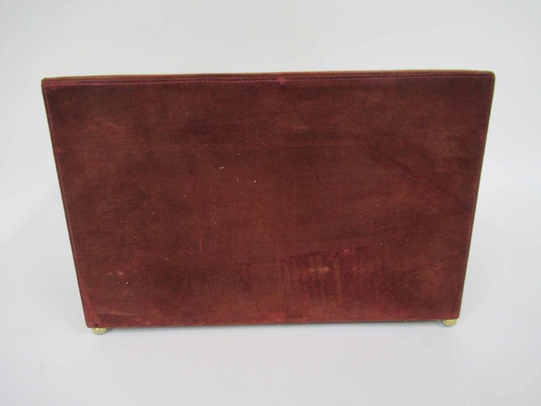 Mark Cross Mens Jewelry Box in Leather 7 Brass - 6