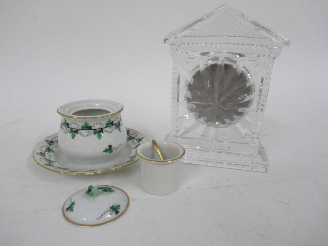 Herend Green and White Covered Dish - 3
